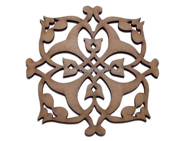 قطعه چوبی لیزری کد 413 - لوازم هنری