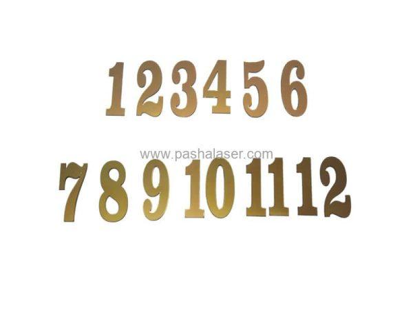 اعداد لاتین برای ساعت