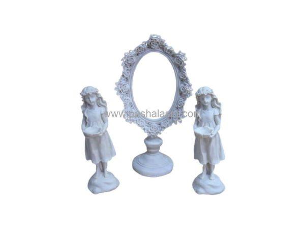 آینه و شمعدان پلی استر